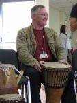 Pat Meehan drumming at an OB