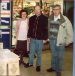 Dolores, Doug and Gerry at a promotional drive