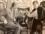 "Mayor Loftus with Denis ""Dracula"" McIntyre"